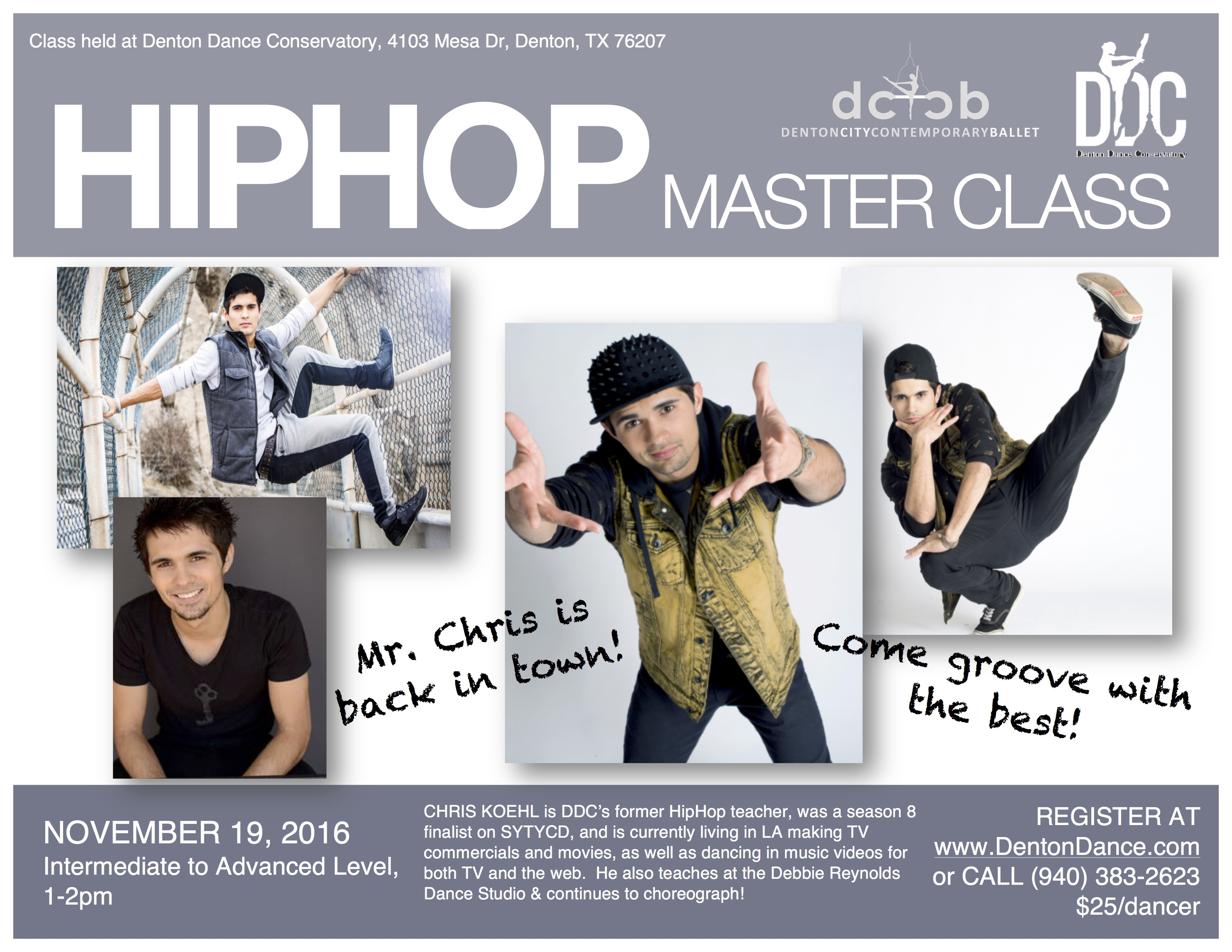 Chris Koehl Master Class Flyer 2016 Small